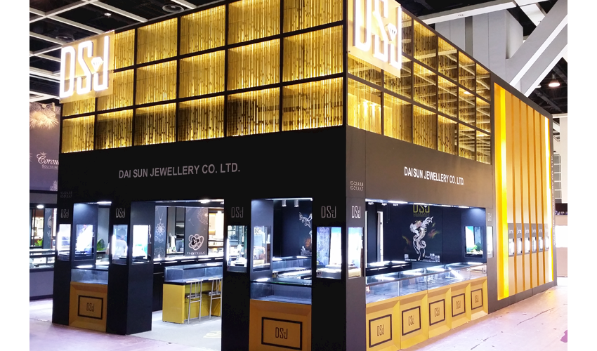 "Jewelry Exhibition Booth Design : Dsj wins the best booth award champion in ""the hong kong"
