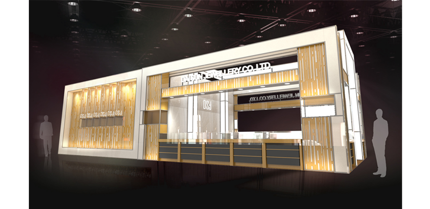 Jewelry Exhibition Booth Design : Dsj. new booth design news dai sun jewellery